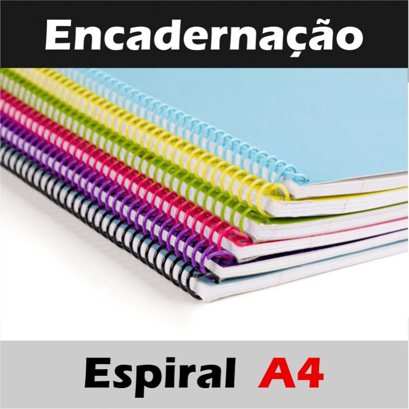 Encadernação Espiral Tamanho A4 (Capacidade máxima por encadernação: 300 folhas / 600 páginas)