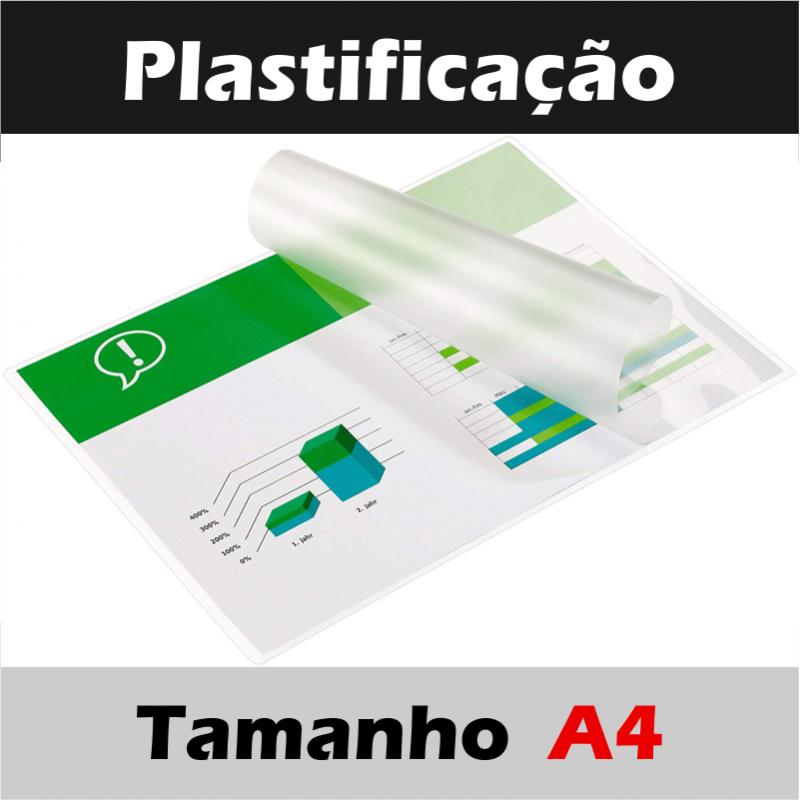 Plastificação Tamanho A4 (Laminação à quente ...