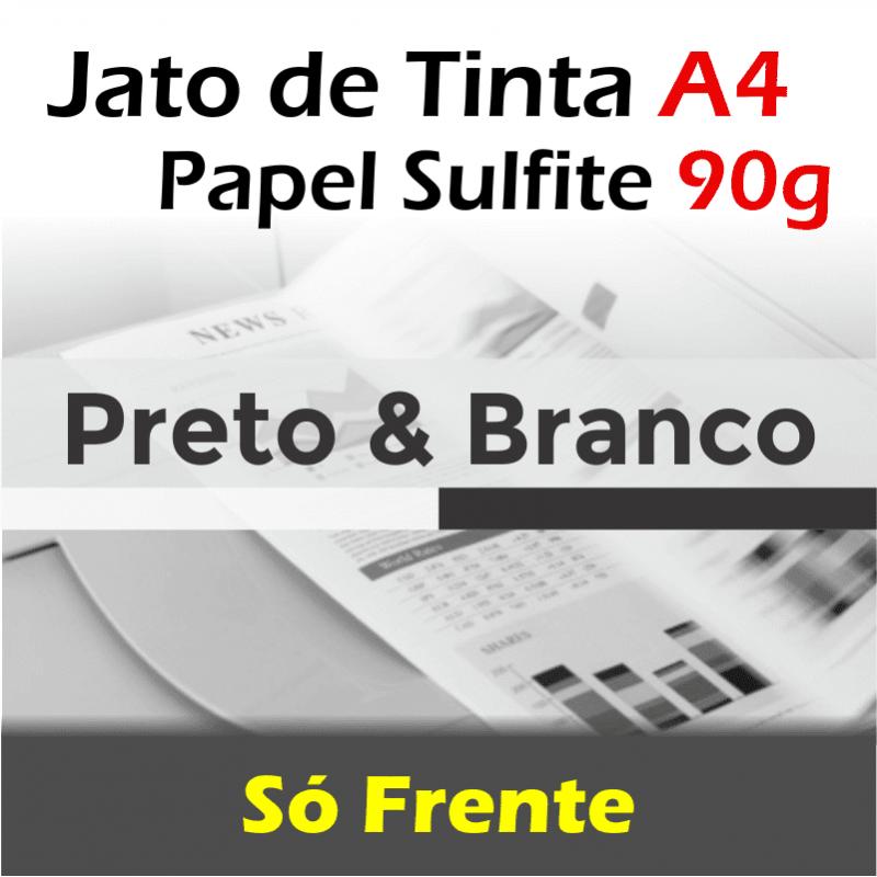 Impressão A4 preto e branco jato tinta papel sulfite 90g frente (preço por página)